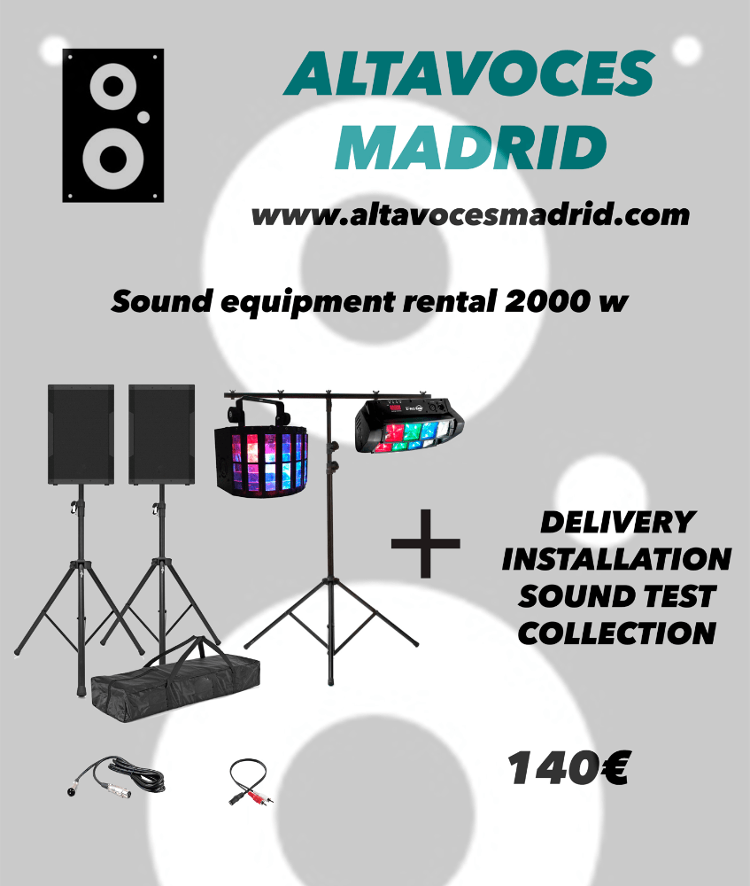 Madrid speakers hire