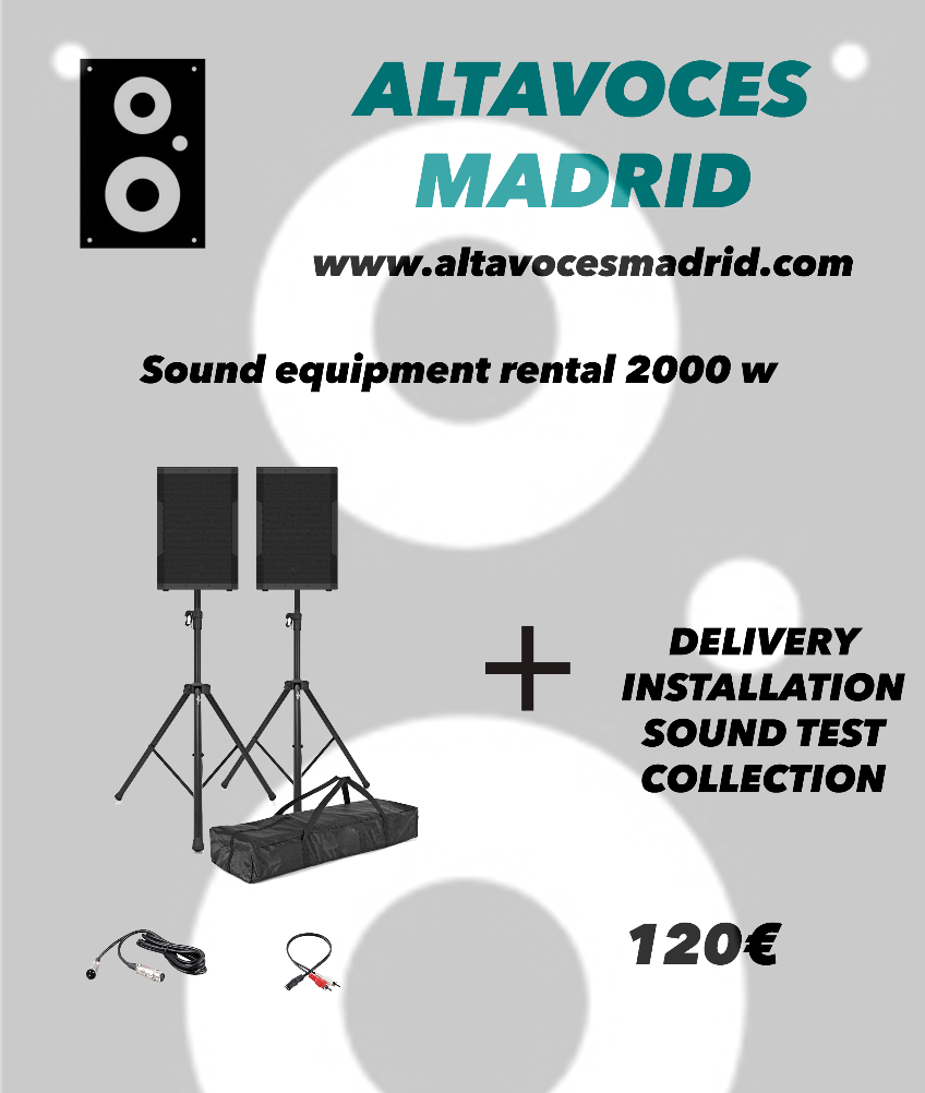 Rent of speakers in Madrid